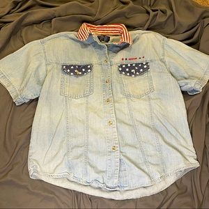 Vintage Solutions USA Button Down Top Large